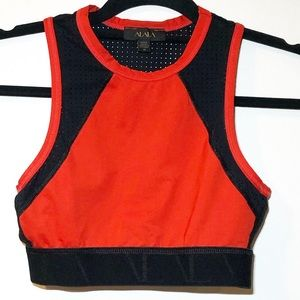 Alala Athletc Top with Black Perforated Back